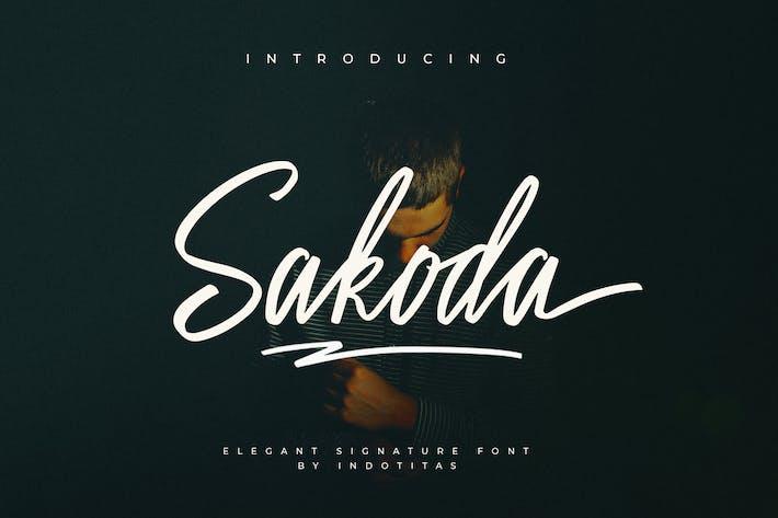 Thumbnail for Sakoda Signature Font
