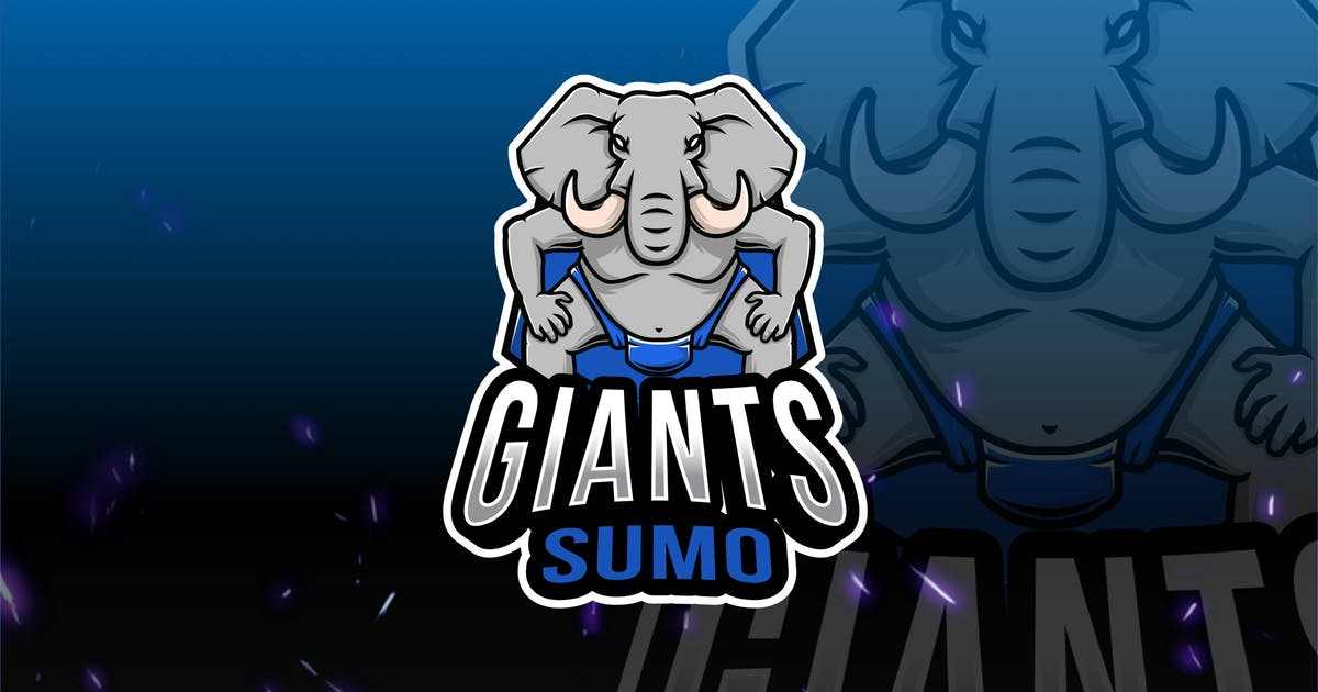 Download Giant Elephant Sumo Esport Logo Template by IanMikraz
