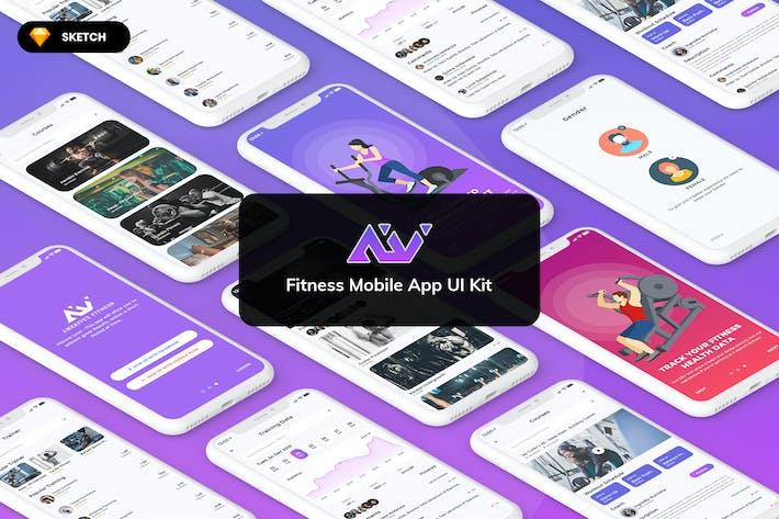 Thumbnail for Amerivex-Fitness MobileApp UI Light (SKETCH)