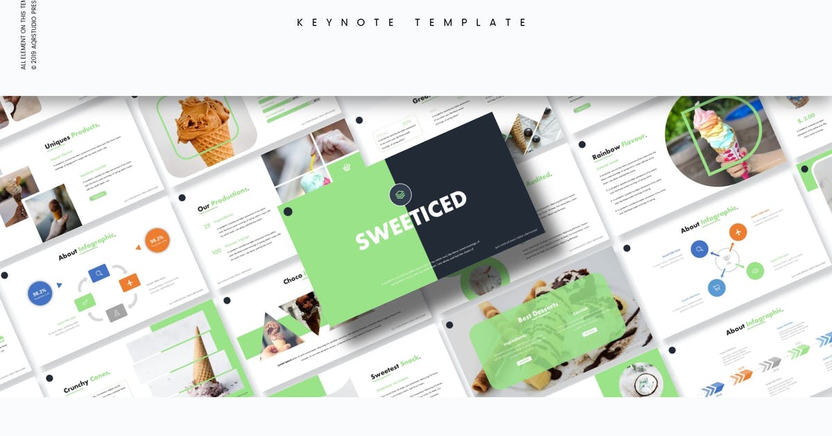Download Sweeticed - Keynote Template by aqrstudio
