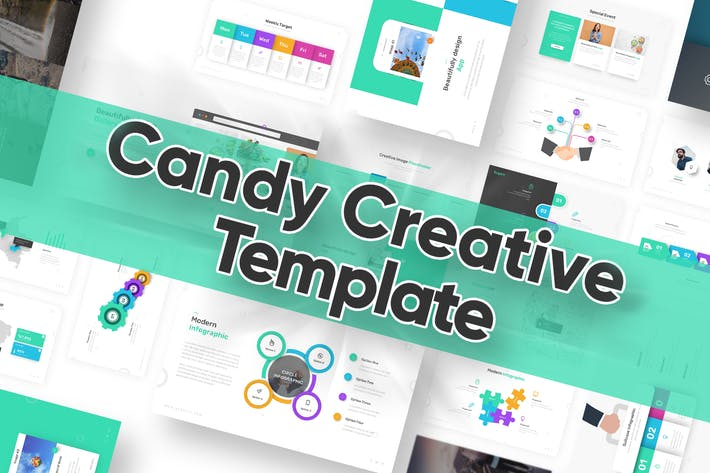 Thumbnail for Candy Powerpoint Template