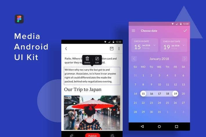 Thumbnail for Media Android UI Kit (Figma)