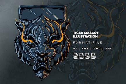 Tiger Mascot Illustration