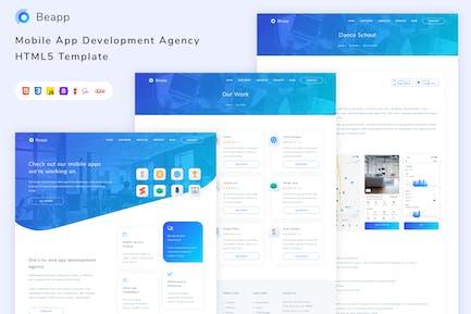 Beapp Mobile App Development Agency HTML5 Template