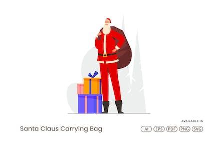 Santa Claus Tragetasche