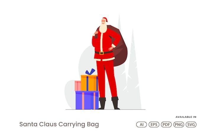 Thumbnail for Santa Claus Carrying Bag