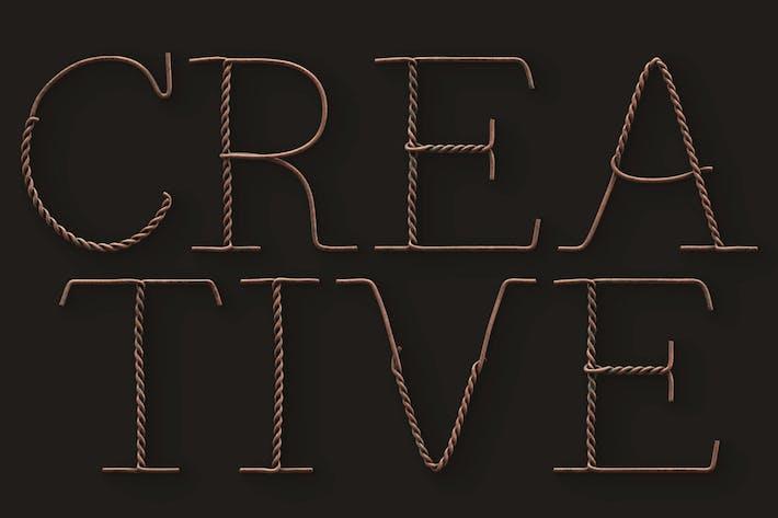 Thumbnail for Vintage Wire - 3D Color SVG Font