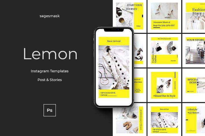 Lemon Instagram Post and Stories