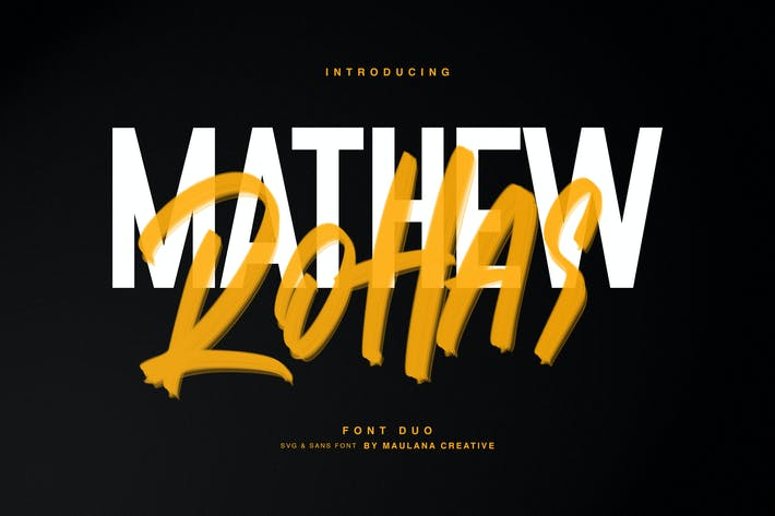 Thumbnail for Mathew Rohas Brush Font Duo