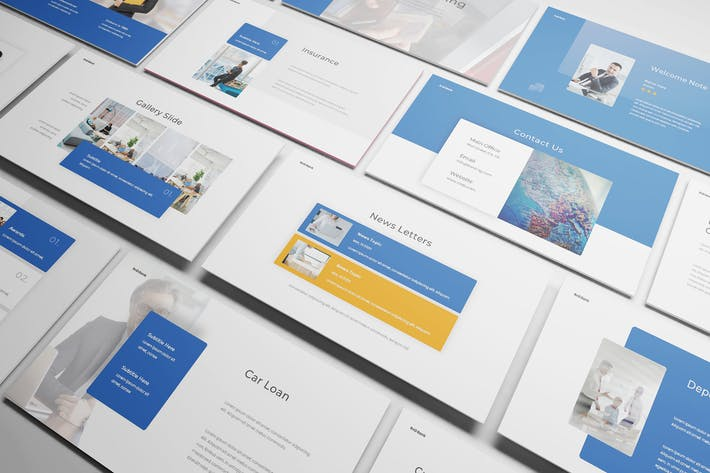 Thumbnail for Bank Powerpoint Template