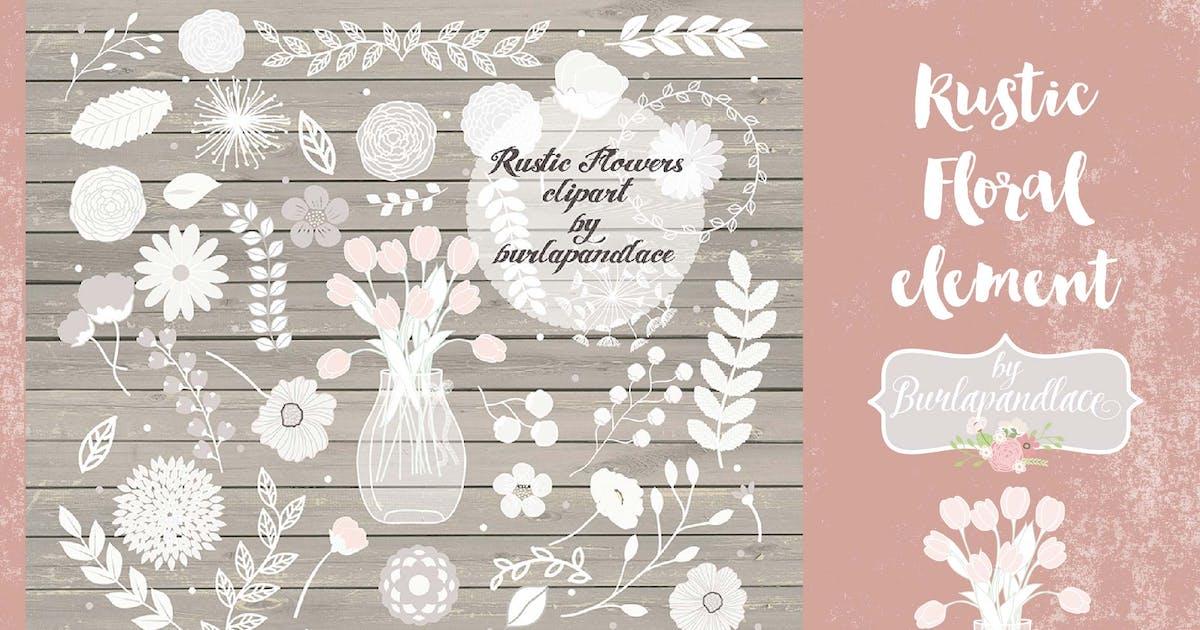 Floral elemetnts by burlapandlace