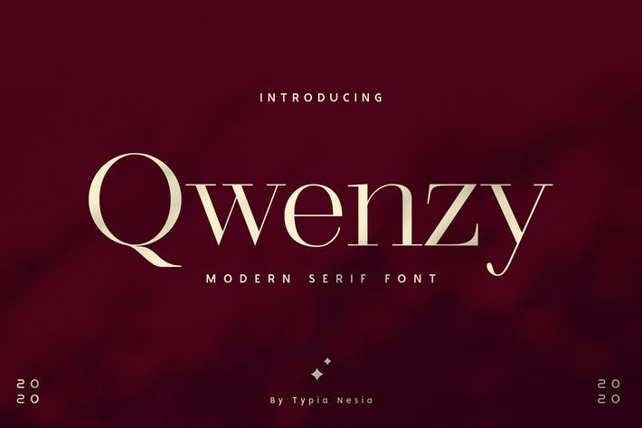 Thumbnail for Qwenzy - Modern Serif