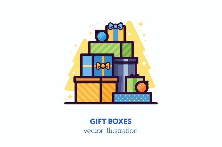 Thumbnail for Gift boxes vector illustration