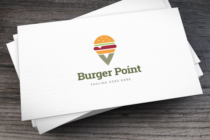 Thumbnail for Burger Point Logo Template
