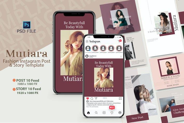 MUTIARA - Instagram POST & STORY Templates