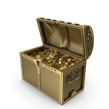 Cofre de oro con monedas de oro