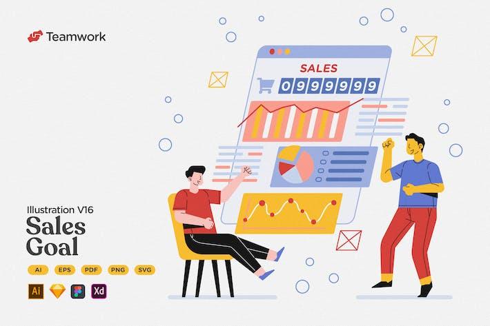 Thumbnail for Trabajo en equipo - Meta de ventas y objetivo de marketing