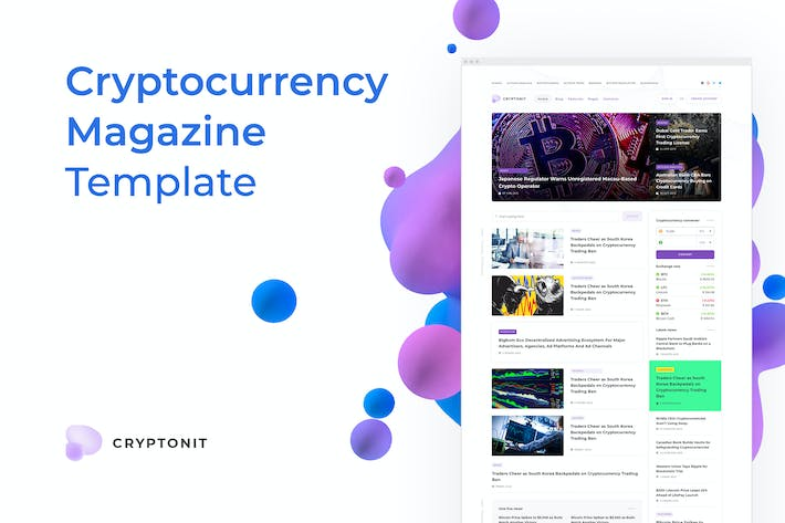 Thumbnail for Cryptonit – Magazine Sketch Template