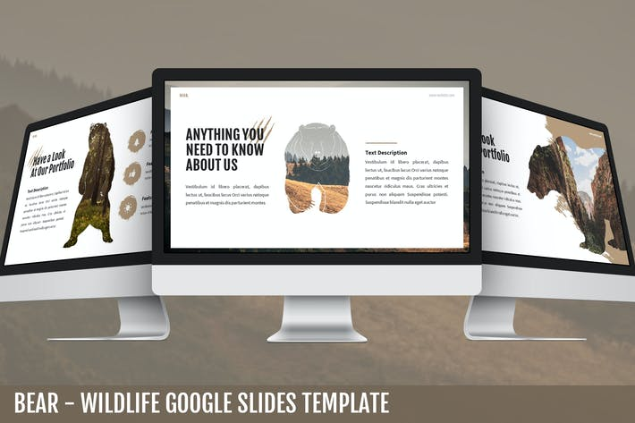 Thumbnail for Bear - Wildlife Google Slides Template