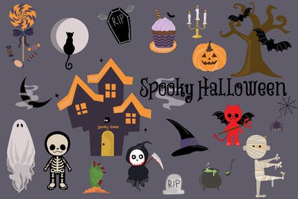Spooky Halloween Hand Drawn