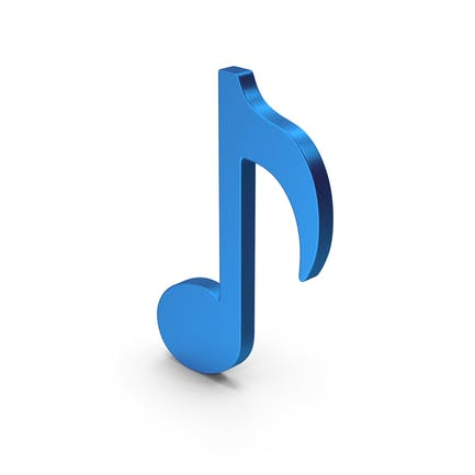 Music Note Blue Metallic