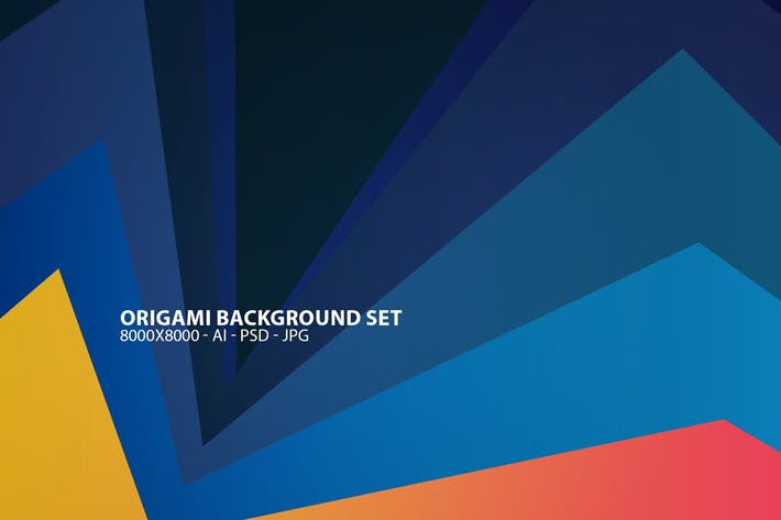 Origami Background Set