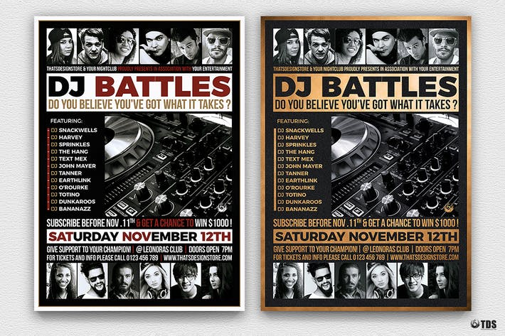Thumbnail for DJ Battle Flyer Template V4