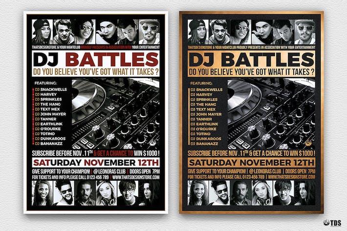 Cover Image For DJ Battle Flyer Template V4