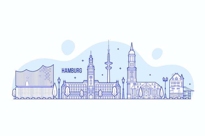 Thumbnail for Hamburg skyline, Germany