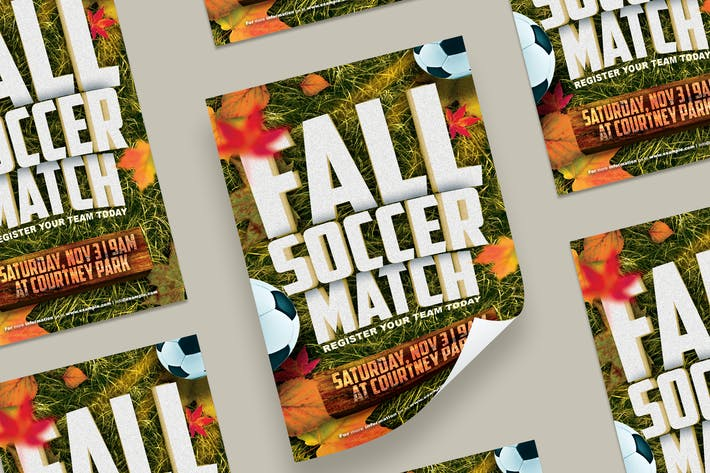 Thumbnail for Fall Soccer Match Flyer
