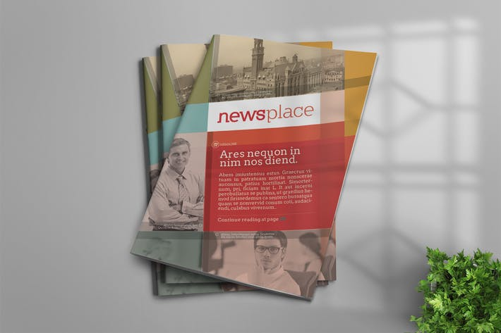 Cover Image For InDesign Newsletter Template
