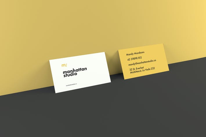 Thumbnail for Business Card Mockups - Landscape and Portrait