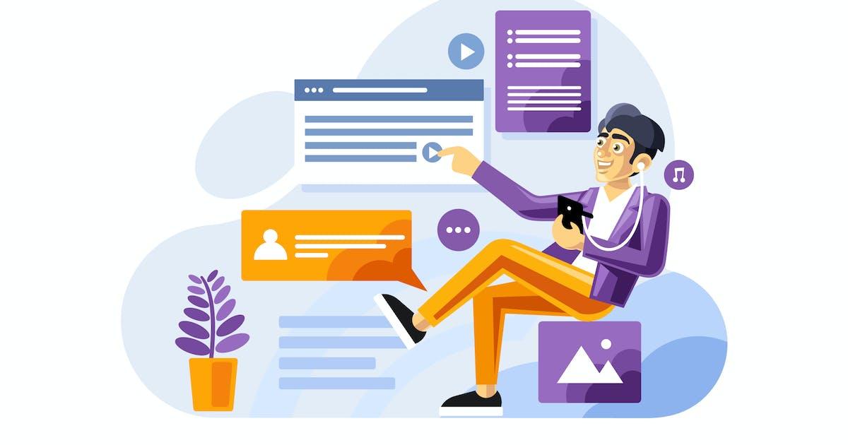 Download Social media influencer Illustration by IanMikraz