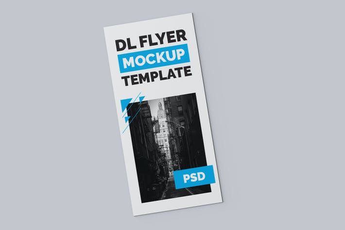 Thumbnail for Top View DL Flyer Mockup Template