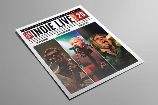 Indie Live Flyer