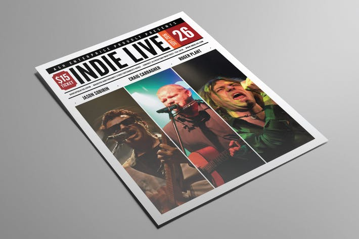 Thumbnail for Indie Live Flyer