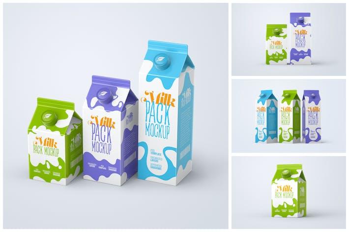 Milchkarton Box Mockup Set | Verpackungsdesign