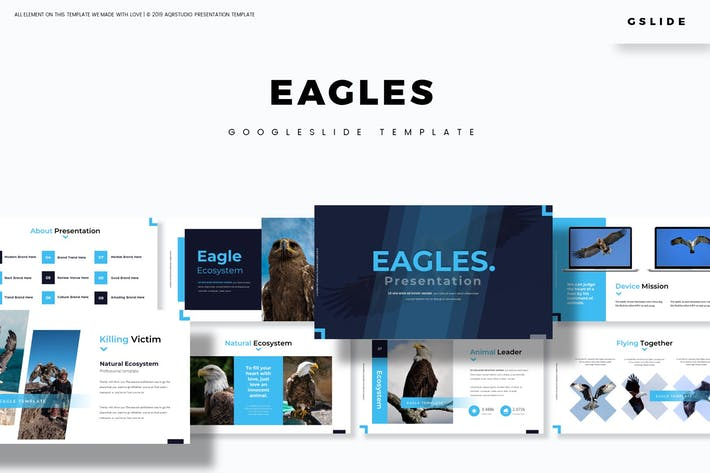 Thumbnail for Eagles - Google Slide Template