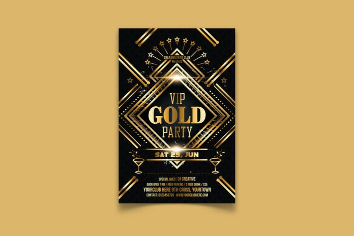 Thumbnail for VIP Gold Party Flyer