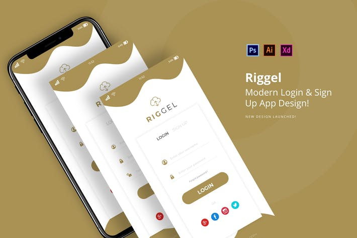 Thumbnail for Rigel Login App