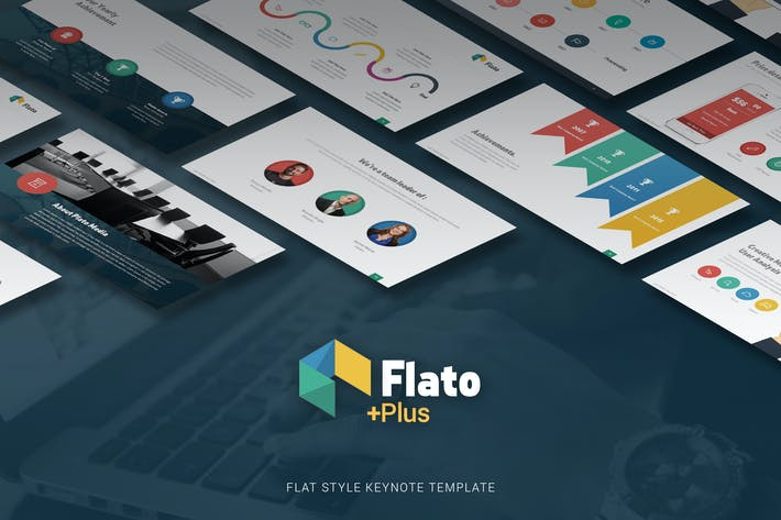 Thumbnail for Flato - Flat Multipurpose Keynote Template