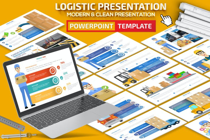 Thumbnail for Logistic Infographic Powerpoint