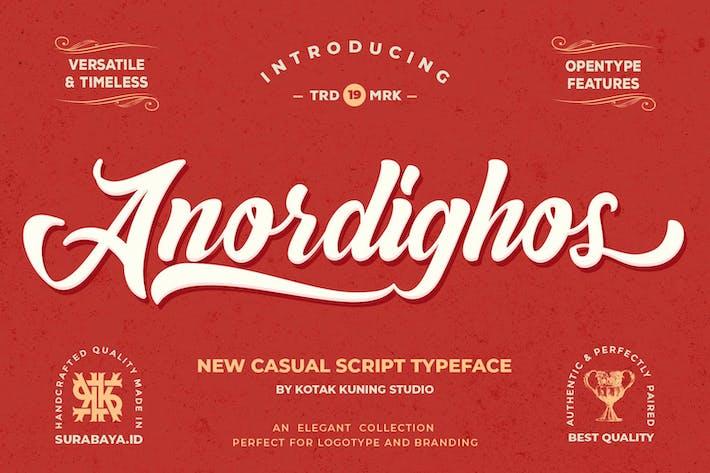 Thumbnail for Anordighos - Fuente de guión retro