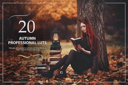 20 Autumn LUTs Pack