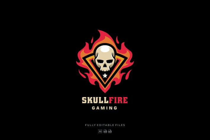 Thumbnail for Skull Fire Sports and E-sports Style Logo