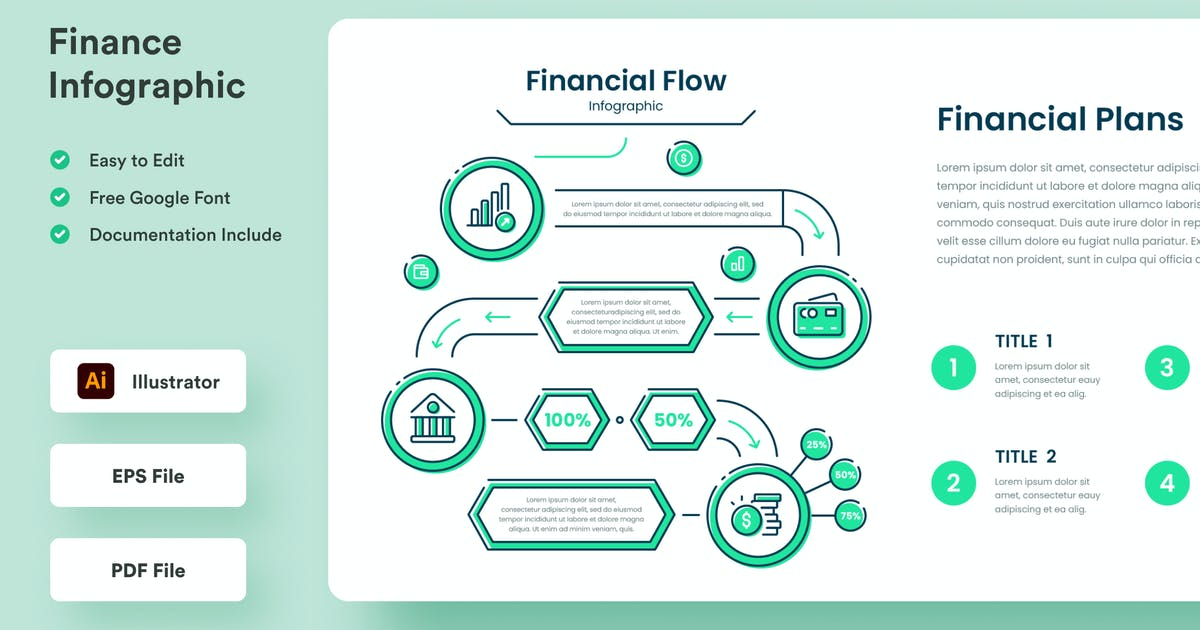 Download Finance Infographic - Muzitemp by GranzCreative
