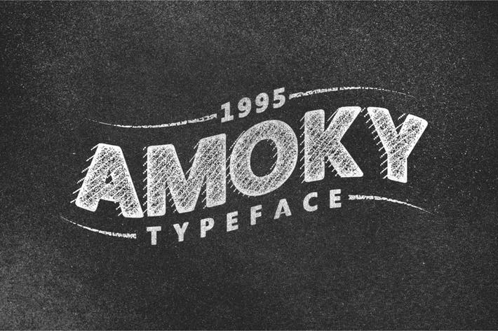 Thumbnail for Amoky Typeface