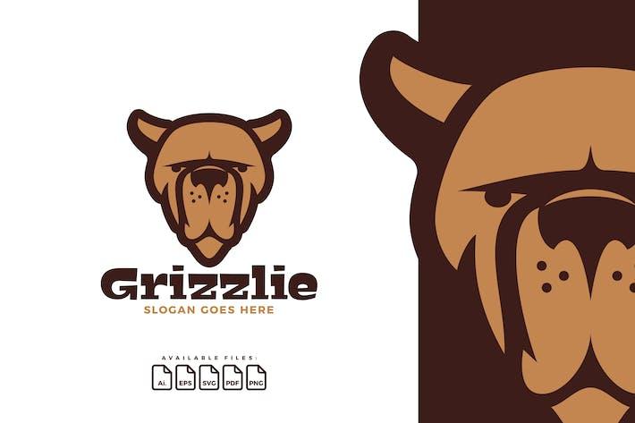 Logo Head Grizzly Bear
