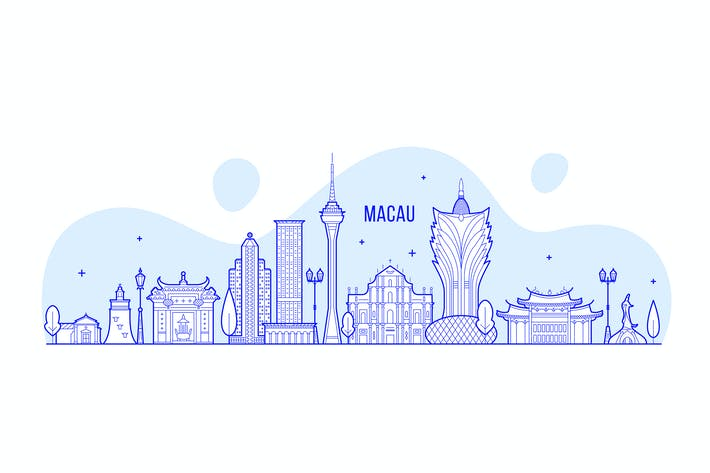 Thumbnail for Skyline von Macau, China