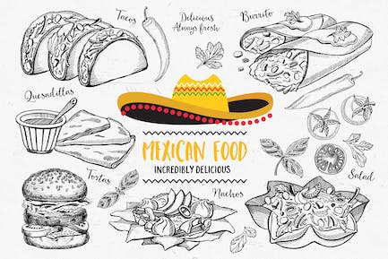 Mexican Food Elements
